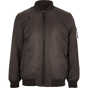 Boys brown padded bomber jacket