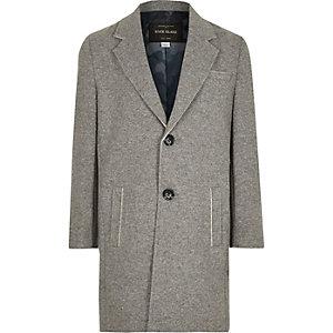 Manteau gris à bords bruts pour garçon