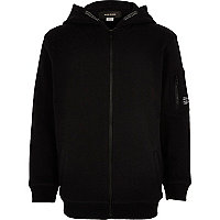 Boys black cotton hoodie