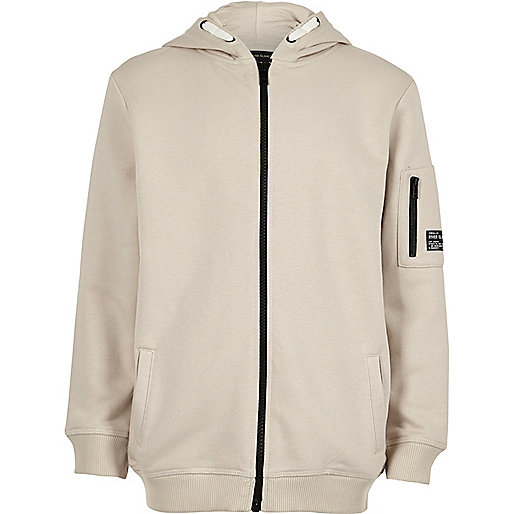 Boys stone cotton hoodie