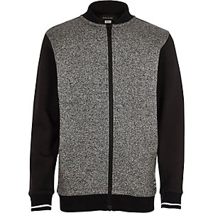 Boys grey grindle bomber jacket