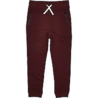 Boys red joggers