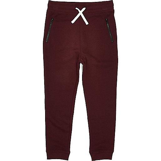 Pantalon de jogging rouge garçon