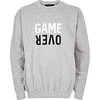 Sweat imprimé game over gris