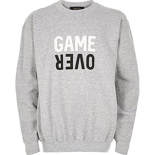 Grey game over print sweatshirt