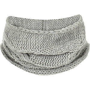 Boys grey knit snood