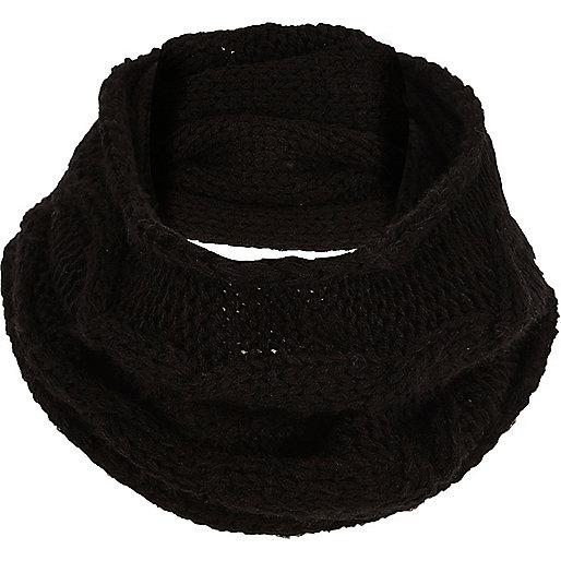 Boys black knit snood