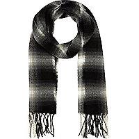 Boys black shadow plaid scarf