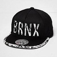 Boys black 'Brnx' cap