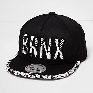 Boys black 'Brnx' cap