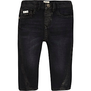 Mini boys dark blue seam jeans