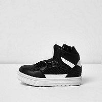 Mini boys black and white hi tops