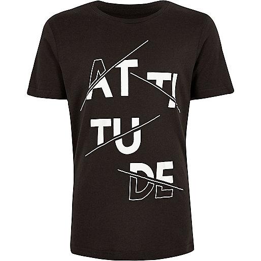 T-shirt anthracite motif «Attitude»