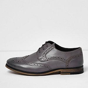 Chaussures richelieu gris clair pour garçon