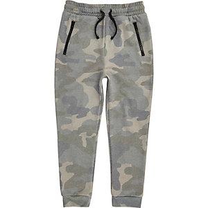 Pantalon de jogging camouflage kaki pour garçon