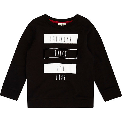 T-shirt imprimé Brooklyn noir mini garçon