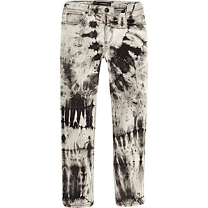 Boys grey print Sid skinny jeans