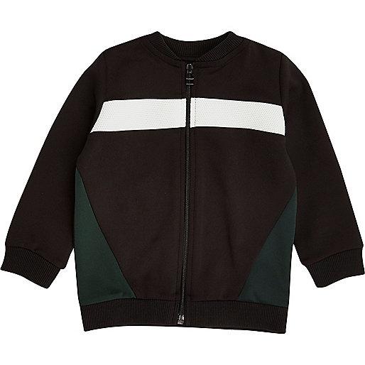 Mini boys black block bomber jacket