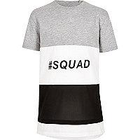 Boys colour block 'squad' T-shirt