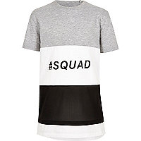 Boys color block 'squad' T-shirt
