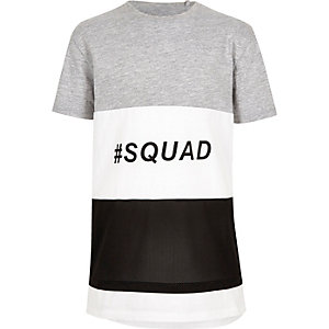 Boys colour block 'squad' T-shirt