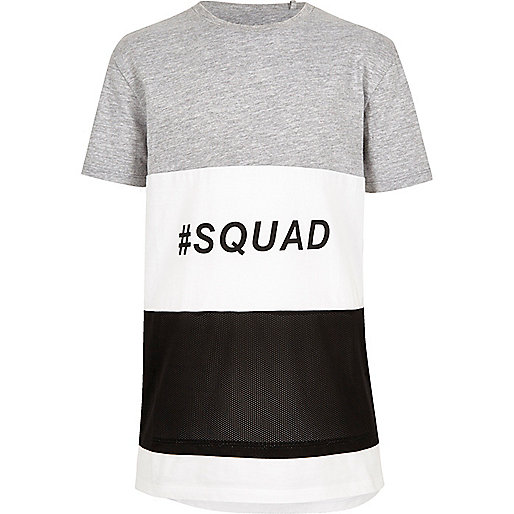 Boys color block 'squad' T-shirt