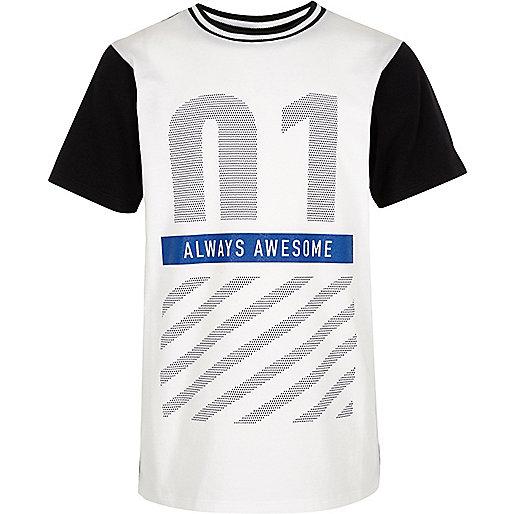 Weißes T-Shirt mit Newlife-Print