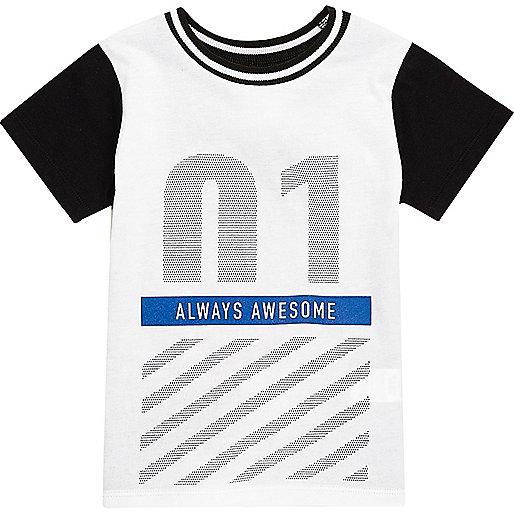 T-shirt imprimé Newlife blanc mini garçon