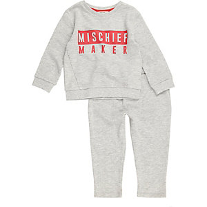 Mini boys grey mischief maker set
