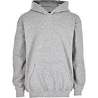 Boys grey cotton hoodie