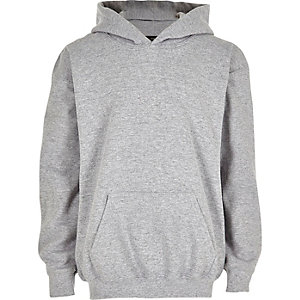Boys grey cotton hoodie
