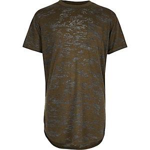 Boys khaki curve T-shirt