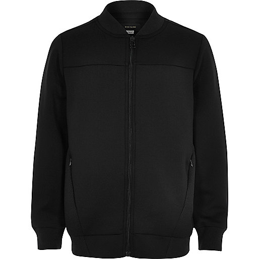 Boys navy mesh bomber jacket