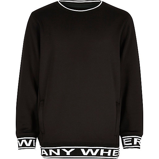 "Schwarzes Sweatshirt ""Anywhere"""