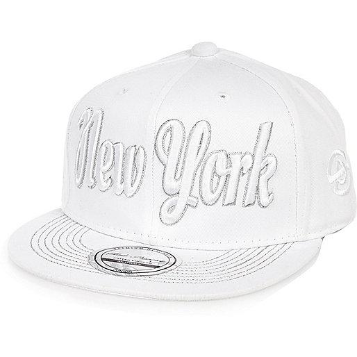 Boys white NYC flat cap