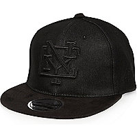 Boys black denim NYC cap