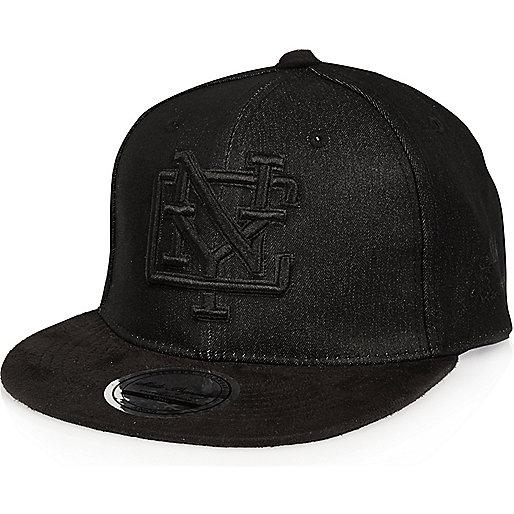 Boys black denim NYC cap