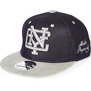 Blaue NYC-Denim-Mütze