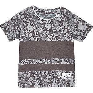 T-shirt imprimé graphique gris mini garçon