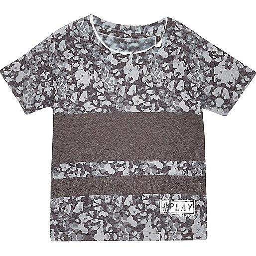 Mini boys grey graphic print t-shirt