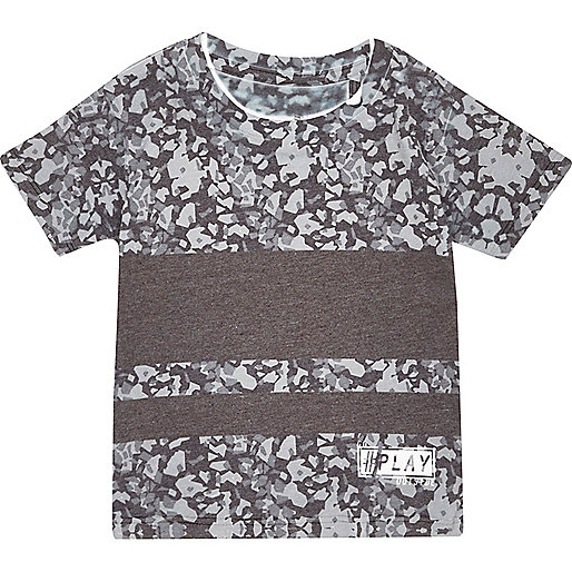 T-shirt imprimé graphique gris pour mini garçon