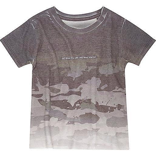 T-shirt camouflage gris mini garçon