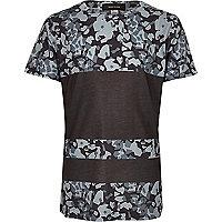 Boys grey camo panel T-shirt