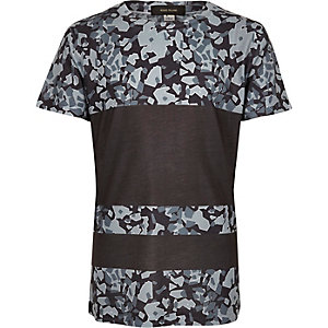 Boys grey camo panel T-shirt