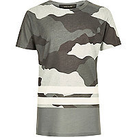 Boys grey camo stripe T-shirt