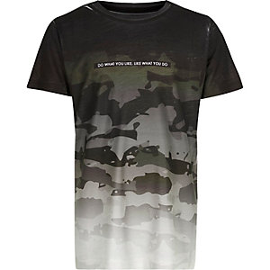 Boys grey faded camo T-shirt