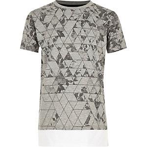 Boys grey print layered T-shirt