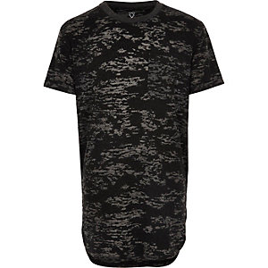 T-shirt gris effet burnout pour garçon