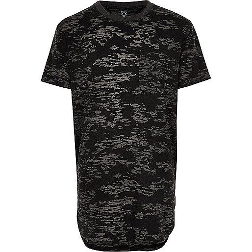 Graues Burnout-T-Shirt