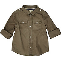 Mini boys khaki military shirt